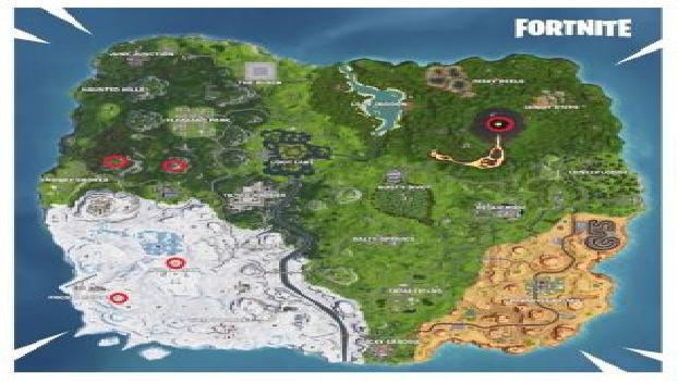 The Fortnite Map 5 Highest Elevations Of The Island In Week 6