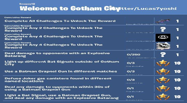 Fortnite How To Complete Welcome To Gotham City Challenges