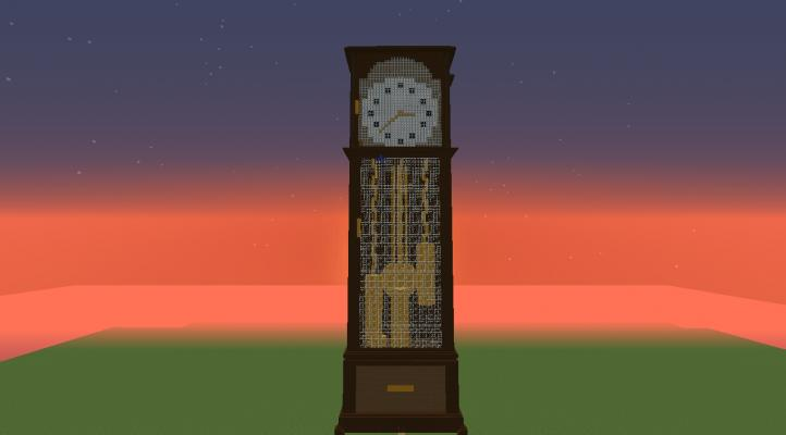Minecraft How To Craft A Grandfather Clock
