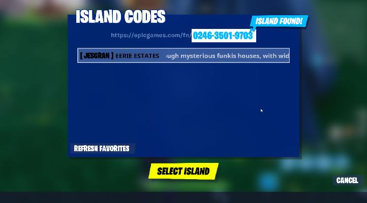 island codes fortnite creative parkour